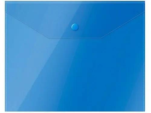 Папка-конверт на кнопке OfficeSpace, А5, 150 мкм, синяя