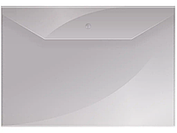 Папка-конверт на кнопке OfficeSpace, А4, 150 мкм, прозрачная