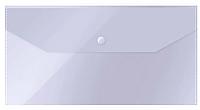 Папка-конверт на кнопке OfficeSpace, C6, 150 мкм, прозрачная
