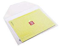 Папка-конверт на кнопке DELI, А4, 0,18 мм, ассорти