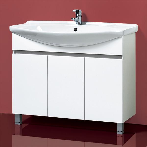 """Тумба с раковиной для ванной «Акваль Афина» 105 см. умывальник """"Элеганс"""" 1050"""