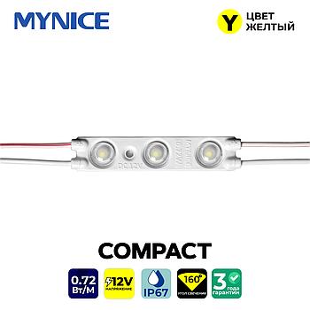 Светодиод трехточечный с линзой 0.72W COMPACT 5613 (жёлтый)