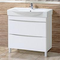 Комплект Тумба с умывальником для ванной «Акваль Верна» 85 см. (Умывальник Элвис 850)