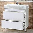 Комплект Тумба с умывальником для ванной «Акваль Верна» 85 см. (Умывальник Элвис 850), фото 2