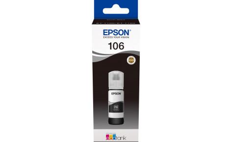 Контейнер с черными водорастворимыми фото-чернилами Epson C13T00R140 106 EcoTank Photo BK Ink Bottle