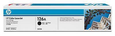 HP CE310A 126A Black Print Cartridge for Color LaserJet CP1025/Pro 100 Color MFP M175/Pro 200 Color MFP