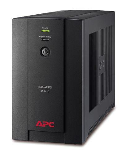 ИБП APC Back-UPS 950ВА,230В, 6 розеток IEC, вых.мощ-ть 480Ватт/950ВА, диапазон вх.напр-я 150-280В, время