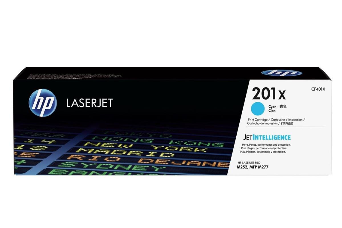 Картридж лазерный HP CF401X голубой
