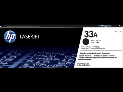 HP CF233A 33A Black LaserJet Toner Cartridge for M106/M134, 2300 pages