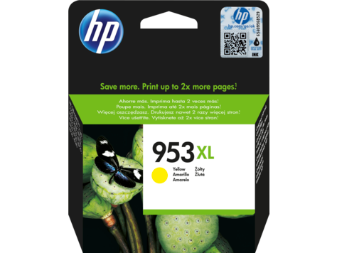 HP F6U18AE 953XL Yellow Original Ink Cartridge for OfficeJet  Pro 8710/8720/8730, up to 1600 pages
