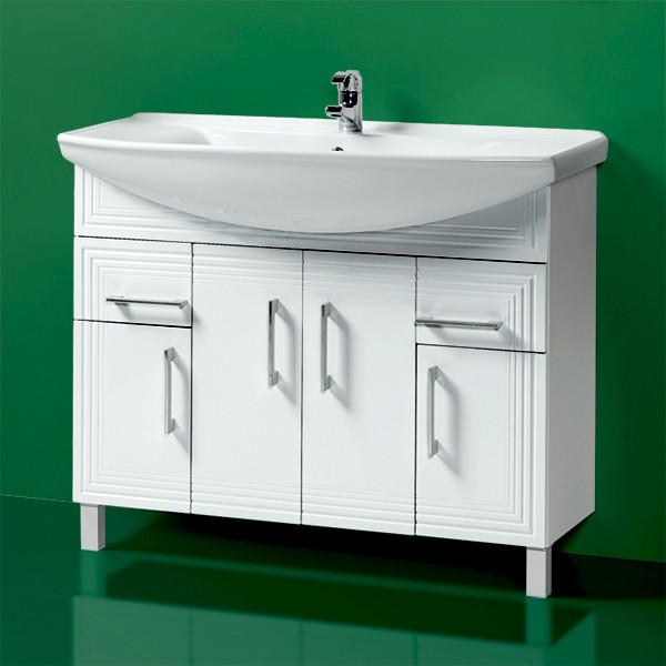 Комплект Тумба с умывальником для ванной «Акваль Манго» 105 см. (Умывальник Стиль 1050)