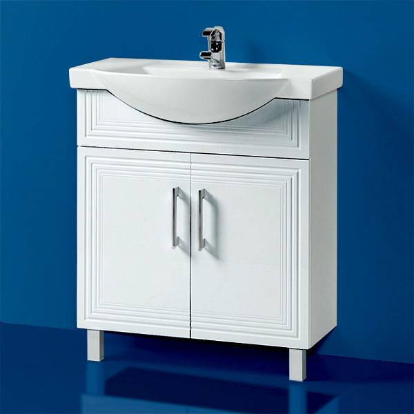 Комплект Тумба с умывальником для ванной «Акваль Манго» 75 см. (Умывальник Монро 75)