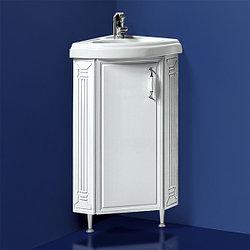 """Тумба с умывальником угловая для ванной «Акваль Марта» 55 см. (Умывальник """"Верона"""" 55 угловой)"""