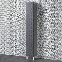 Шкаф для ванной «Акваль Нова» 30 см. Черный