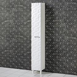 Шкаф для ванной «Акваль Нова» 30 см. Белый