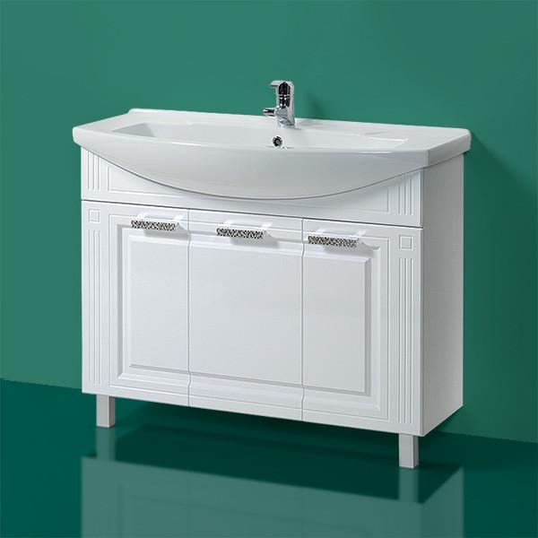Комплект Тумба с умывальником для ванной «Акваль Оливия» 105 см. (Умывальник Элеганс 1050)