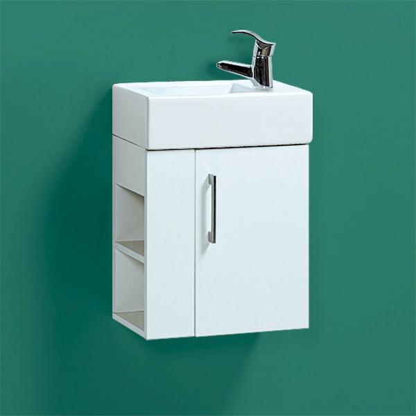 """Комплект Тумба с умывальником подвесная для ванной «Акваль Паола» 46 см. (Умывальник """"Эрис-46"""")"""