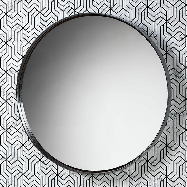 Зеркало «Акваль Юнит» 80 см. черный