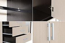 Шкаф для одежды 4Д Лидер 1К, Дуб Линдберг, Стендмебель (Россия), фото 3