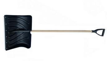 Лопата пластмассовая Домбай с планкой  с деревянным черенком 1-го сорта и Vр