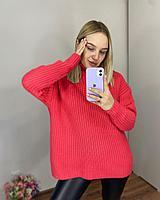 Женский свитер из крупной вязки