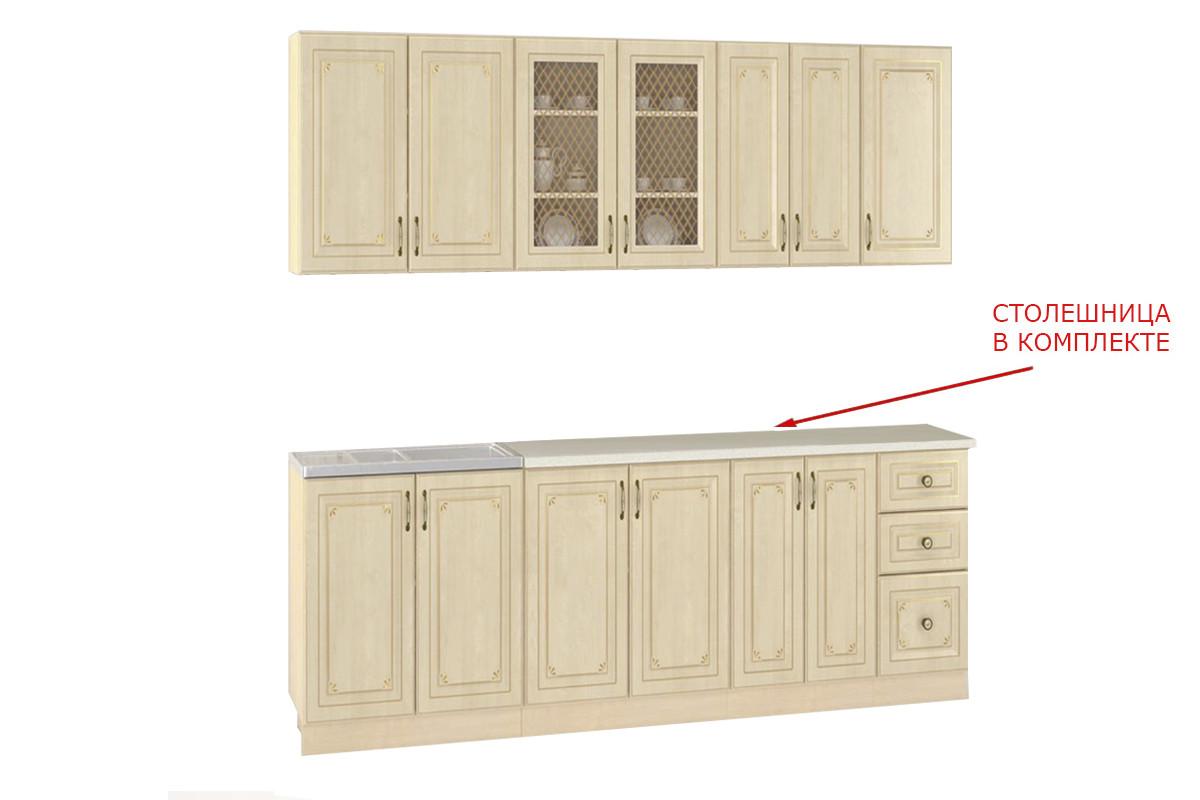 Шкаф кухонный 800, 2Д  как часть комплекта Гранд, Береза, MEBEL SERVICE (Украина)