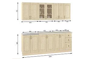 Шкаф кухонный 800, 2Д  как часть комплекта Гранд, Береза, MEBEL SERVICE (Украина), фото 3
