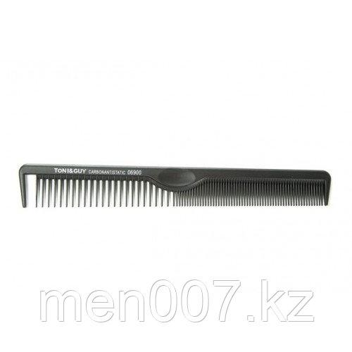 Расческа TONI&GUY Carbon Antistatic Comb узкая, 21*3 см (Копия)
