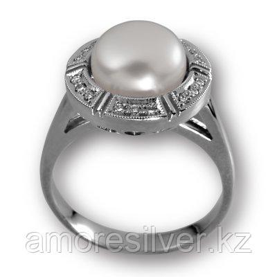 Кольцо Елана серебро с родием, фианит, круг 210615