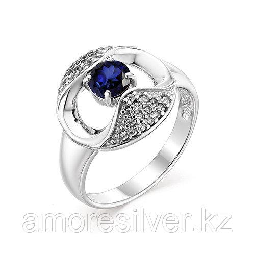 Серебряное кольцо с сапфиром и фианитом Алькор 01-0770/0ГТС-00 размеры - 18
