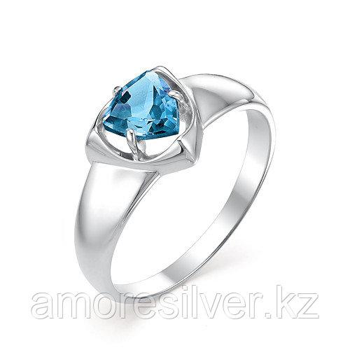 Серебряное кольцо с топазом Алькор 01-0375/00ТБ-00 размеры - 17
