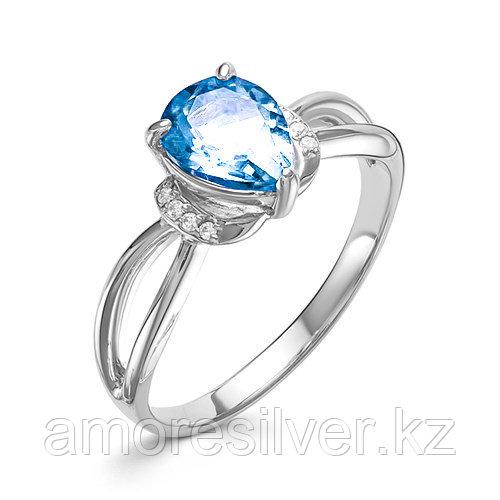 Кольцо из серебра с топазом и фианитом Алькор 01-0544/00ТБ-00 размеры - 17,5