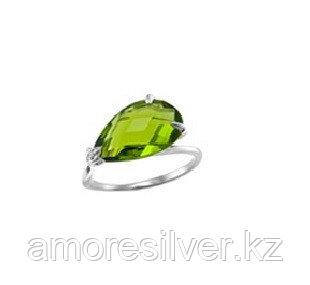 Серебряное кольцо с кварцем пл. топаз и кварцем пл. топаз лондон Алмаз-Групп 11390052 размеры - 16