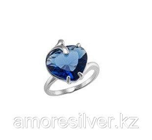 Кольцо из серебра с топазом лондон и кварцем пл. топаз лондон Алмаз-Групп 11390099 размеры - 18,5