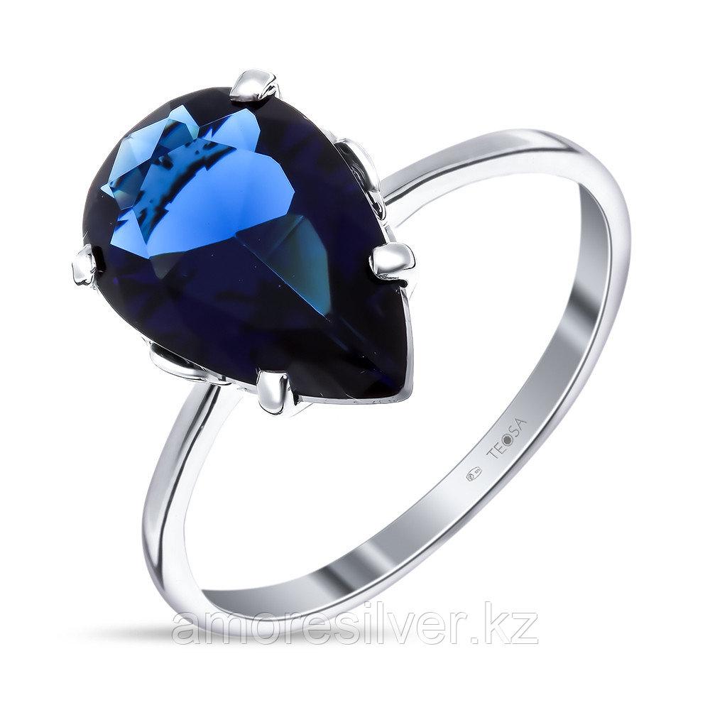 Кольцо из серебра с кварцем пл. сапфир TEOSA 1-09-Р-СП размеры - 16