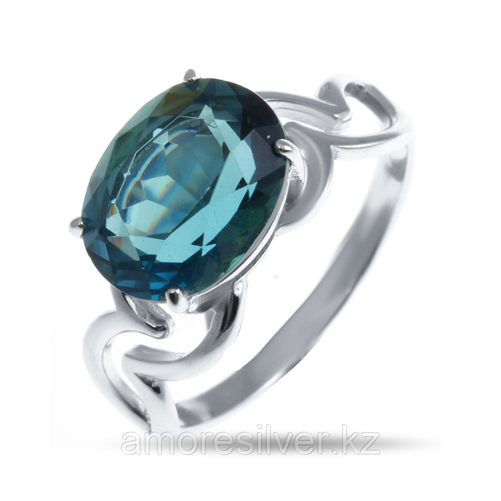 "Кольцо Алмаз-Групп серебро с родием, топаз, ""каратник"" 11390091"