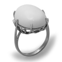 Кольцо Елана серебро с родием, бирюза, ажурное 211149