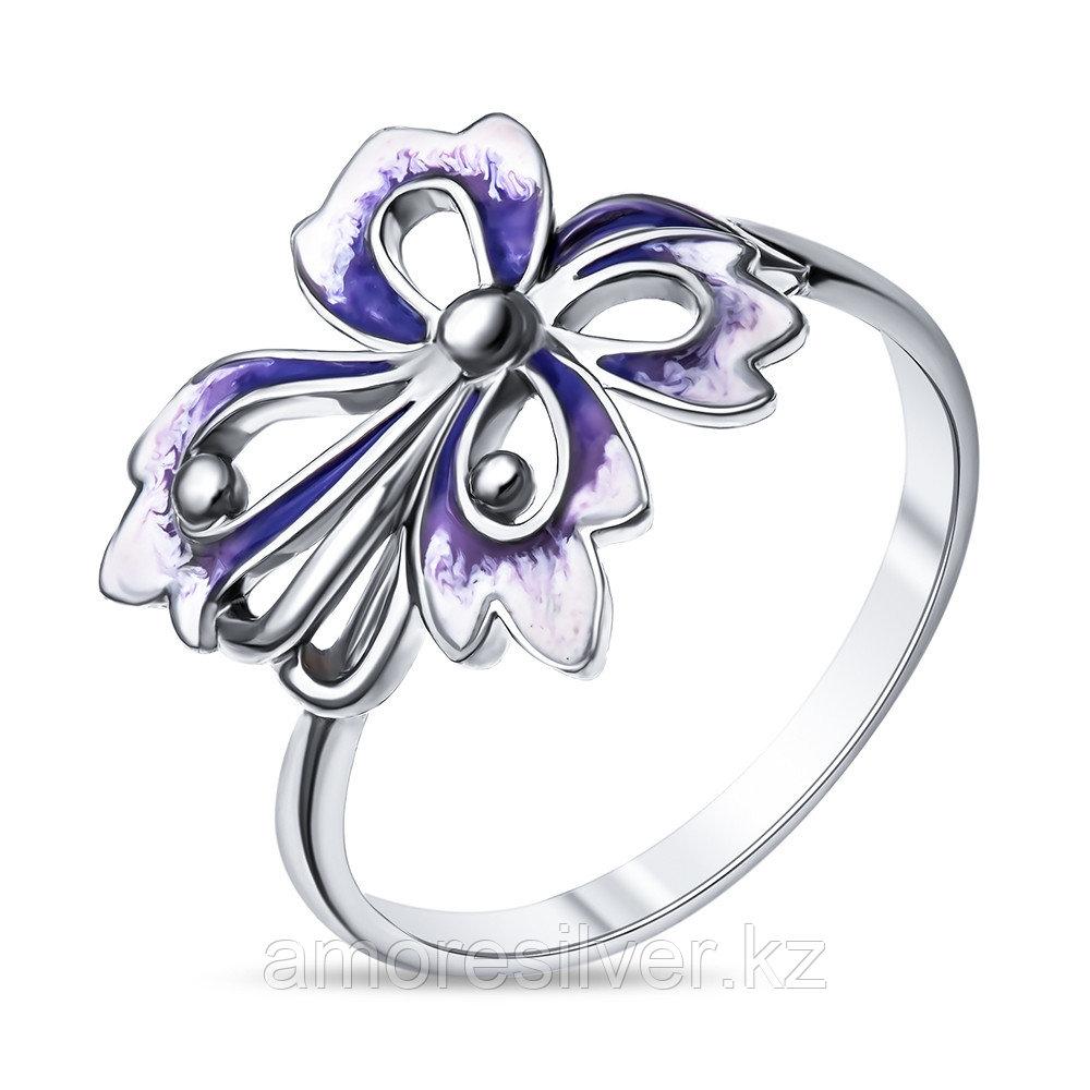 Кольцо Красносельский ювелирпром серебро с родием, эмаль, флора 3627000313-2