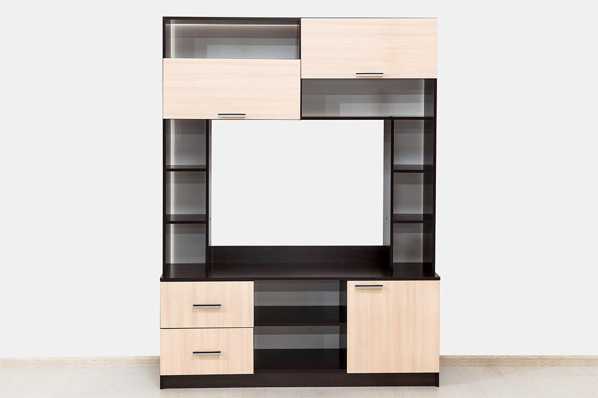 Шкаф для одежды 2Д как часть комплекта Гостиная 3, Дуб Млечный, СВ Мебель (Россия)