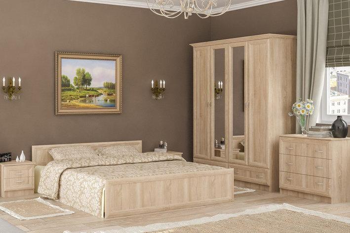 Соната 2 - Спальный гарнитур 4Д, Дуб самоа, Мебель-Сервис, фото 2
