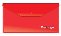 Папка-конверт на кнопке Berlingo, C6, 180 мкм, красная