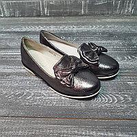 Туфли для девочек графит