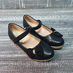 Туфли черные с бантиком сбоку