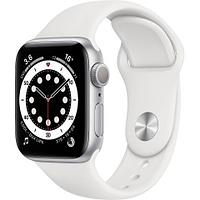 Apple Watch Series 6 GPS, 40mm Silver Aluminium Case with White Sport Band - Regular, Model A2291