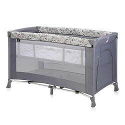 Кровать-манеж Bertoni Verona 2 Grey Dots 2078