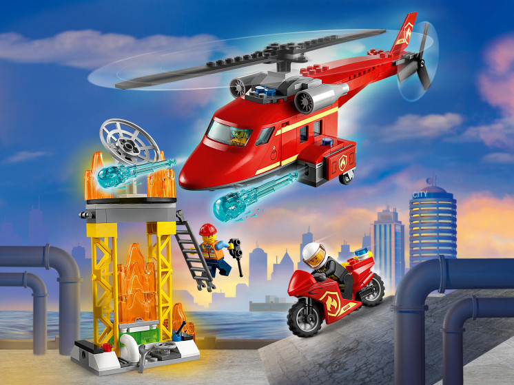 LEGO City 60281 Спасательный пожарный вертолёт, конструктор ЛЕГО - фото 1