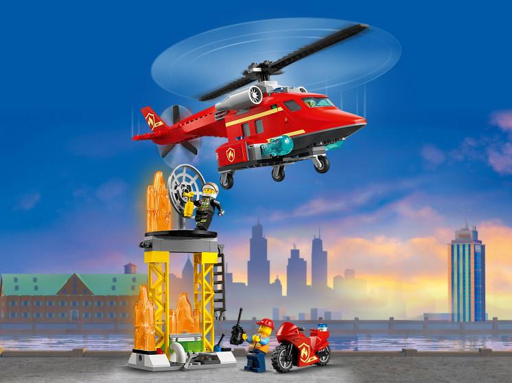 LEGO City 60281 Спасательный пожарный вертолёт, конструктор ЛЕГО - фото 10