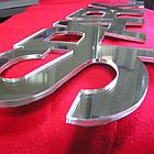 Серебрянный зеркальный листовой акрил (5мм) 1,22мХ2,44м, фото 5