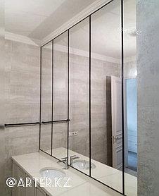 Зеркало в черной металлической раме, 5мм, 2050(В)х510(Ш)мм