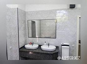 Зеркало в черной металлической раме, 5мм, 1300(В)х800(Ш)мм